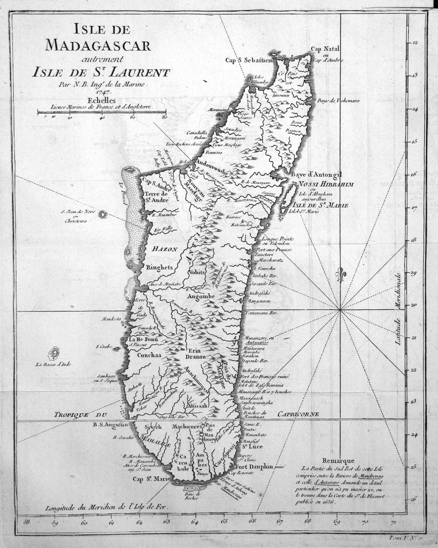 Madagaskar Karte.Isle De Madagascar Autrement Isle De St Laurent