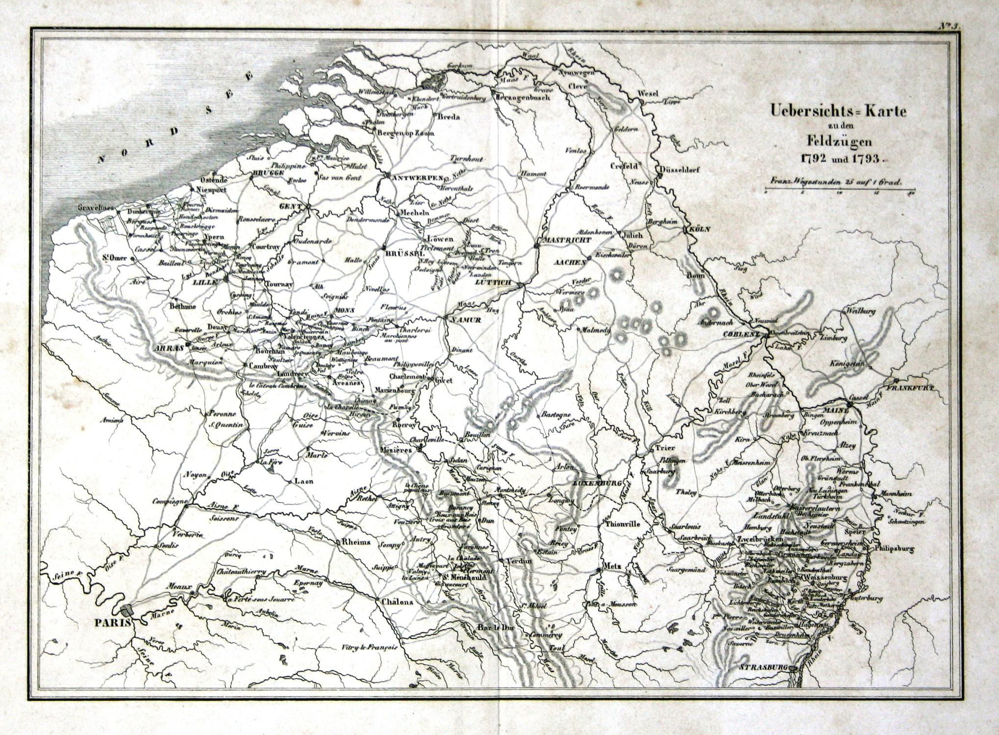 Karte Koblenz.Uebersichts Karte Zu Den Feldzügen 1792 Und