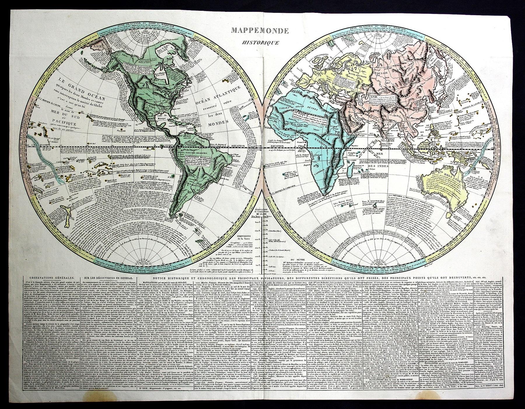 Karte Europa Asien.Mappemonde Historique
