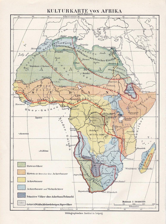 Kulturkarte von Afrika\