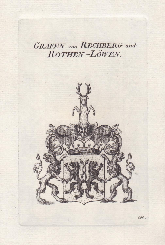 """Grafen von Rechberg und Rothen-Löwen"""" - Rechberg: Original-Kupferstich:"""