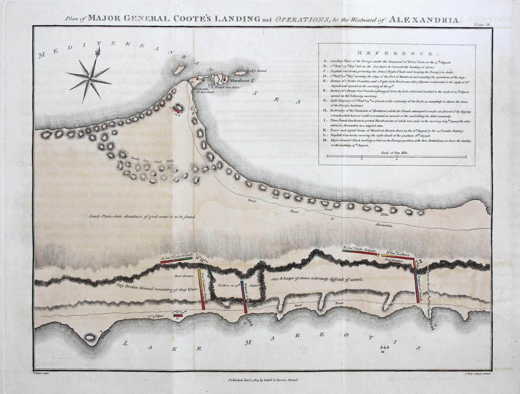 Plan of Major General Coote\'s Landing and ...