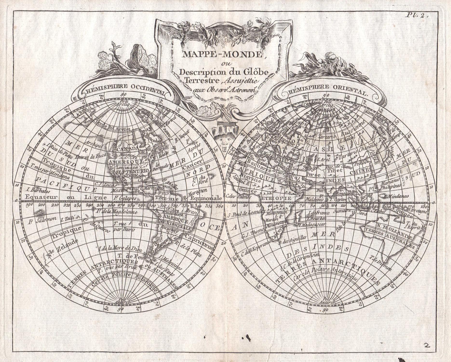 Mappe Monde Ou Description Du Globe Weltkarte Welt Karte World