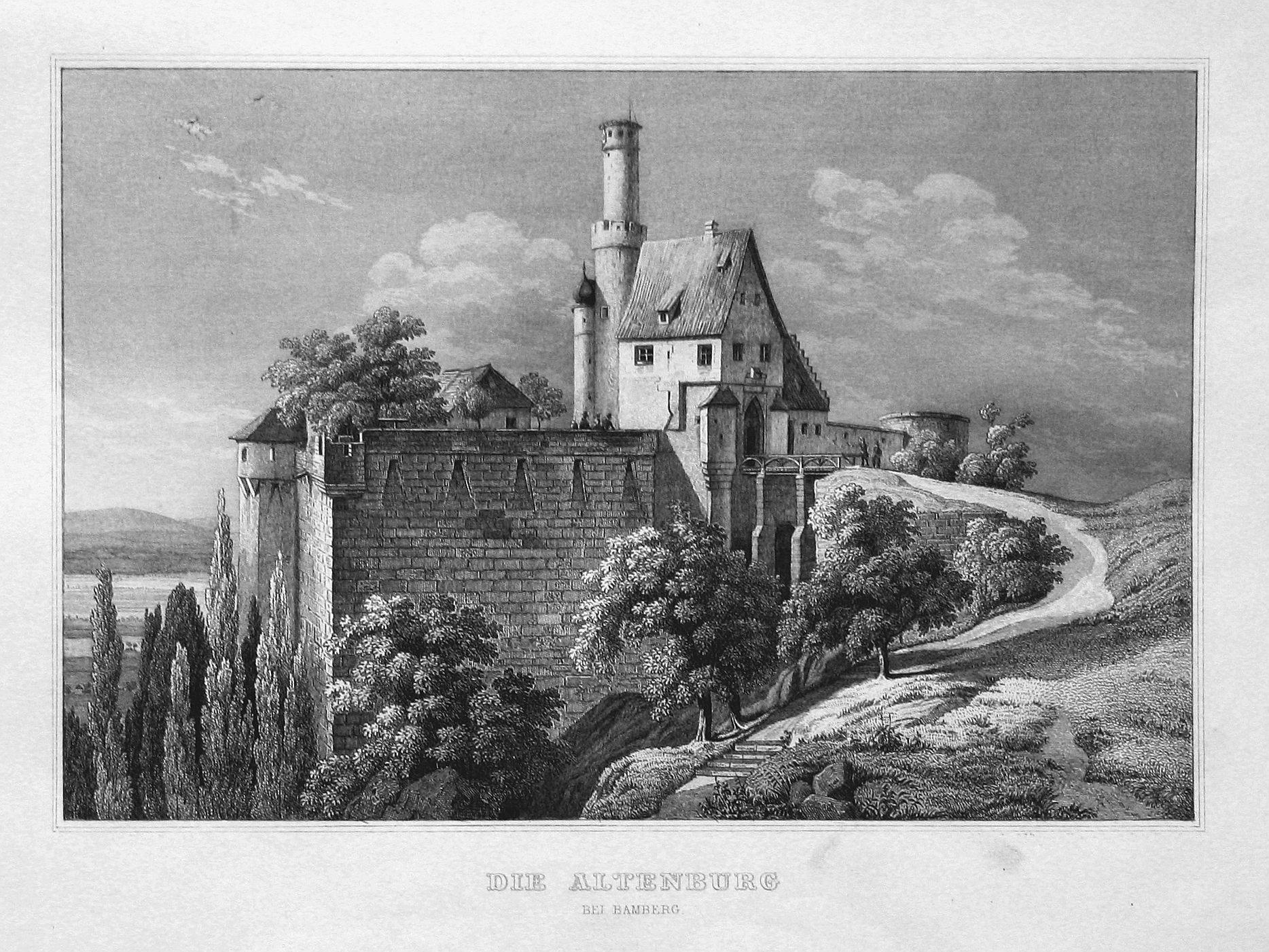 "Die Altenburg bei Bamberg"" - Altenburg Bamberg: Bamberger, Fritz (1814-1873):"