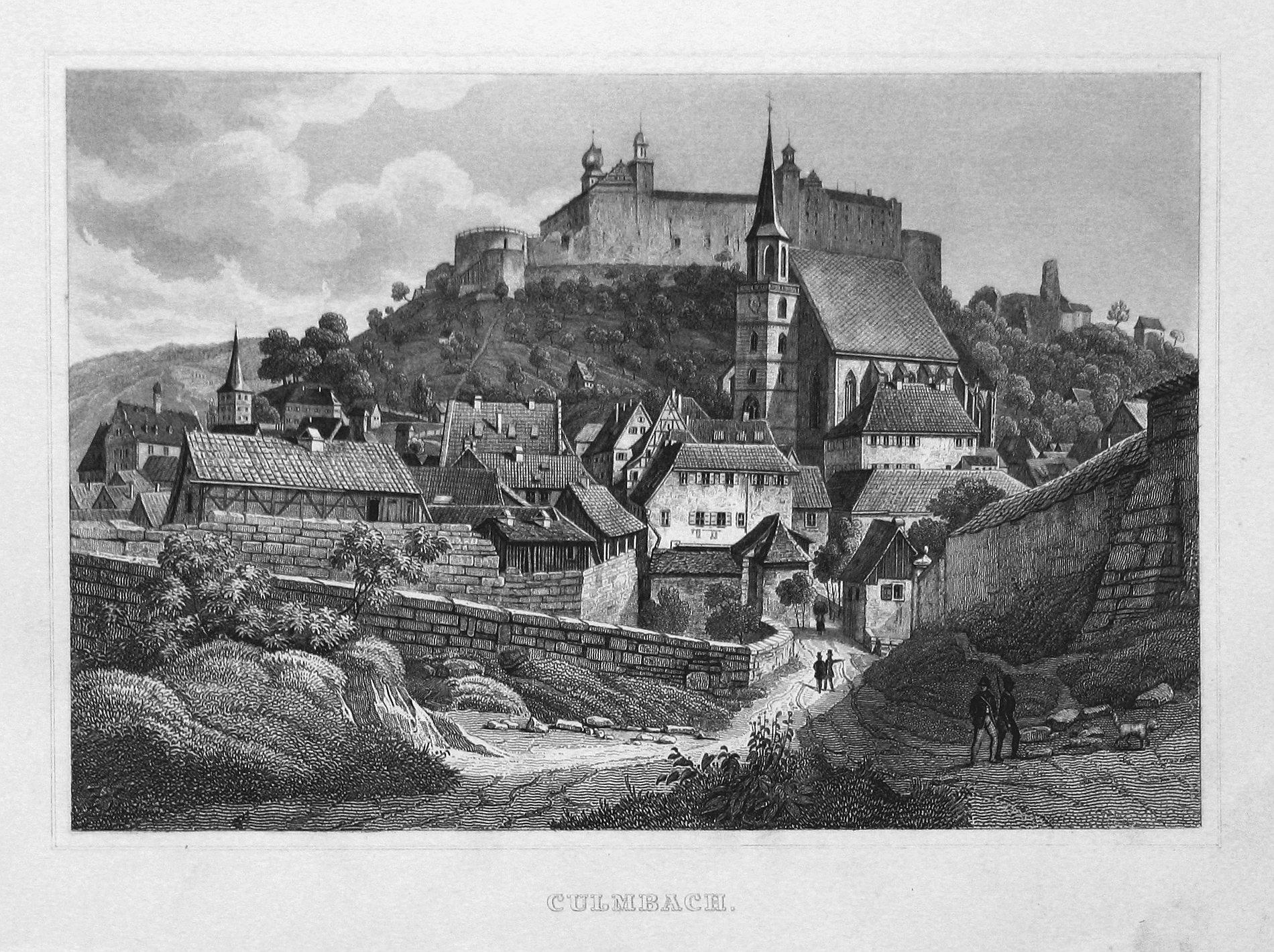 "Culmbach"" - Kulmbach Oberfranken Bayern Ansicht view: Bamberger, Fritz (1814-1873):"