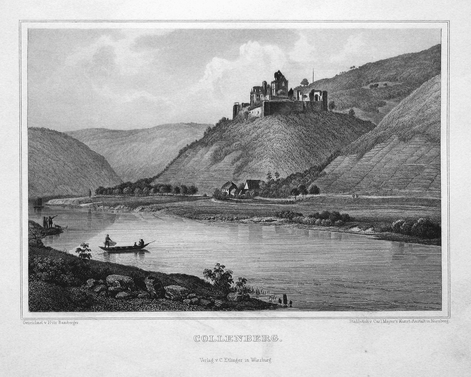 """Collenberg"""" - Collenberg Bayern Unterfranken Ansicht view: Bamberger, Fritz (1814-1873):"""