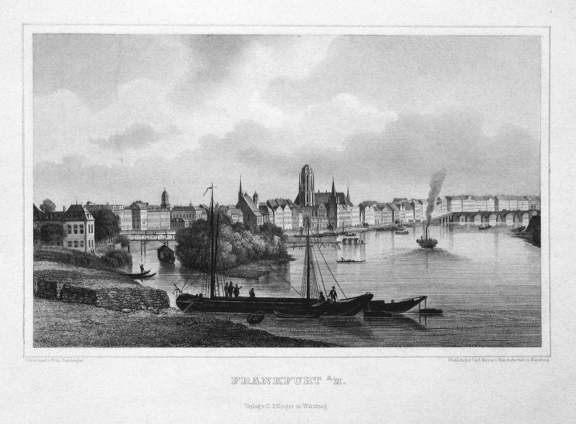 """Frankfurt a/M."""" - Frankfurt am Main Hessen: Bamberger, Fritz (1814-1873):"""
