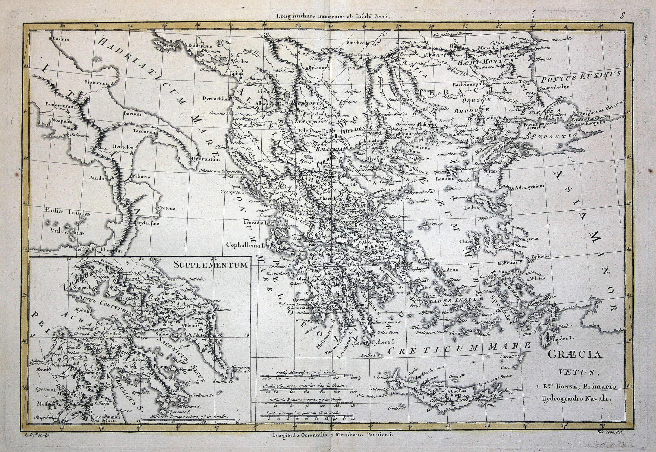 Griechenland Karte Kreta.Graecia Vetus