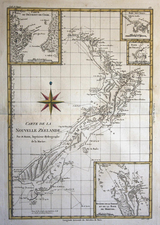 Carte de la Nouvelle Zeelande\