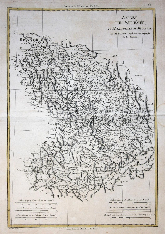 Polen Schlesien Karte.Duche De Silesie Et Marquisat De Moravie