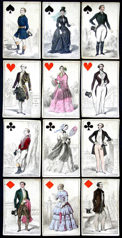 Vialibri Jeu Des Costumes Parisiens Or Jeu Des Modes Costume Trachten Costumes Paris Mode Playing Cards Spielkarten Cartes A Jouer Kartenspiel Spiel Jeu Alte Spiele Antique Games