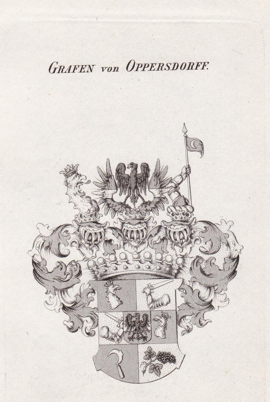 """Grafen von Oppersdorff."""" - Oppersdorff Oppersdorf Opersdorf Wappen coat of arms Heraldik heraldry"""