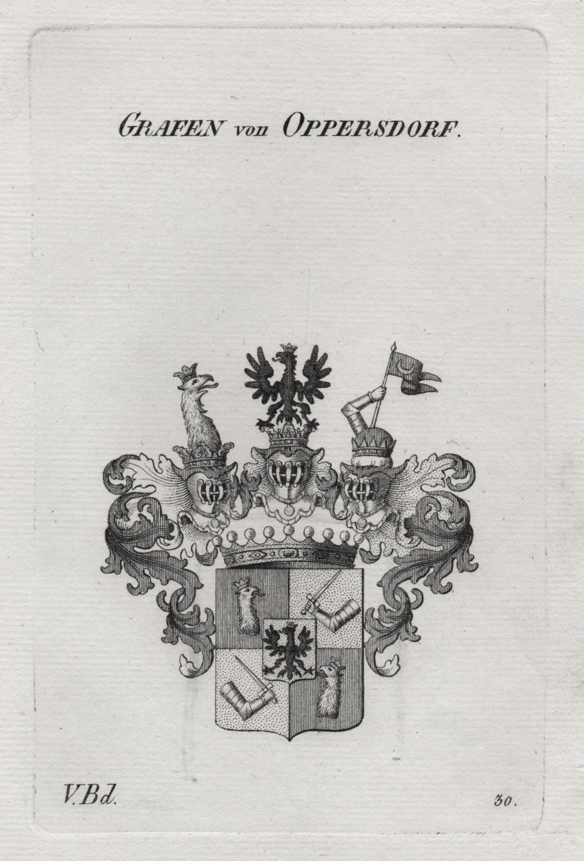 """Grafen von Oppersdorf"""" - Oppersdorff Oppersdorf Opersdorf Wappen Adel coat of arms Heraldik heraldry"""