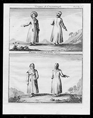 Istanbul Constantinople Greece Turkey costumes Kupferstich engraving