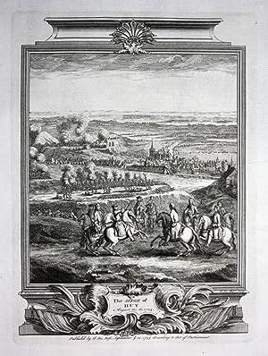 Siege de Huy 1703 Belgium gravure carte Kupferstich map