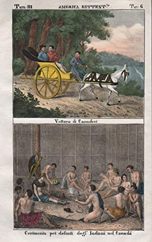 Canada Indians North America Caach horse Lithograph