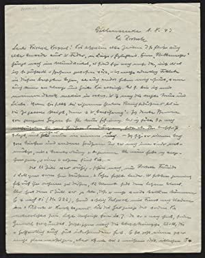 - Friedrich Brunstäd Brief Autograph Original