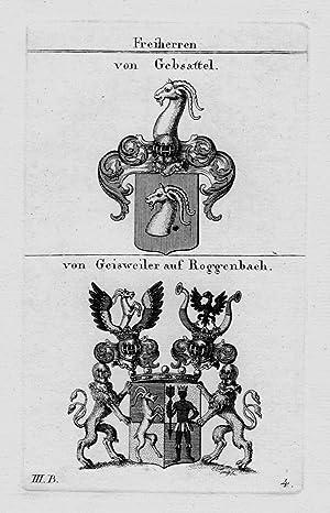 Gebsattel Geisweiler Wappen Adel coat of arms