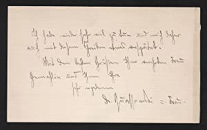 - Hans Wolfgang Quassowski - letter Brief Autograph signiert signed