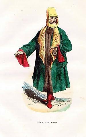 Mardin Türkei Turkey Trachten Holzstich costumes antique