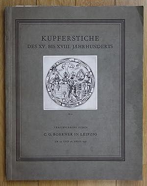 Kupferstiche des XV. bis XVIII. Jahrhunderts Auktion