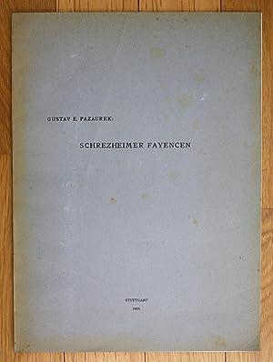 Gustav Pazaurek Schrezheimer Fayencen Schrezheim Fayence