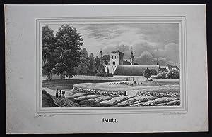 Gamig Dohna Sächsische Schweiz Erzgebirge Original Lithographie