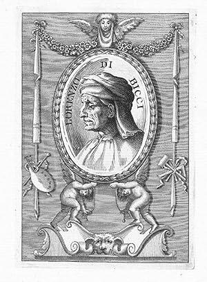 Bicci di Lorenzo painter Kupferstich Portrait engraving