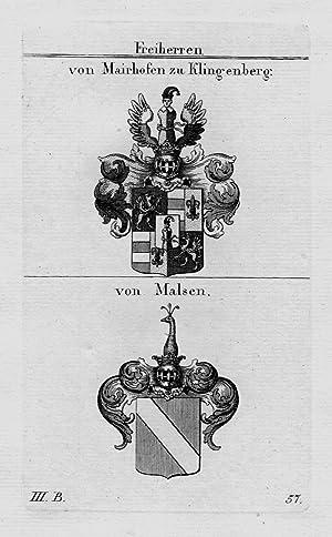 Mairhofen Klingenberg Malsen Wappen Adel coat of