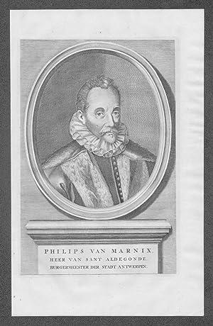 Philips van Marnix Mont Saint Aldegonde Portrait