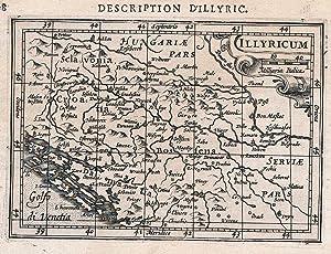 Illyrien Dalmatien Bosnia Serbia Croatia map Karte