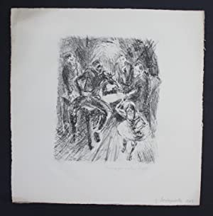 Margarethe Lipps Original Lithographie signiert lithograph signed
