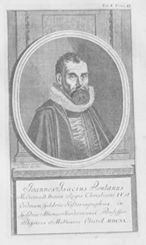 Johan Isaksen Pontamus Denmark Holland Portrait gravure