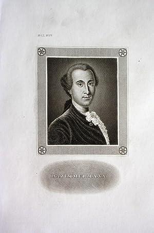 Johann Georg Ritter von Zimmermann Arzt Schweiz