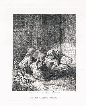 Johann Georg Meyer Bremen Düsseldorf Radierung Kinder