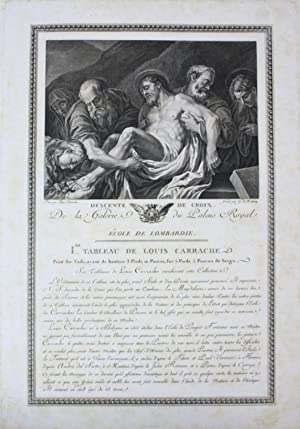 Lodovico Carracci Kreuzabnahme Jesus Christ Kupferstich engraving