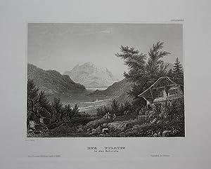 Pilatus Bergmassiv Kanton Luzern Nidwalden Obwalden engraving