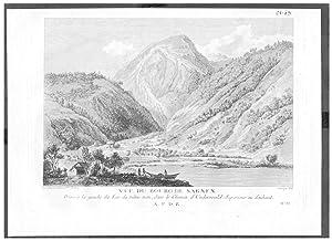 Sarnen Kanton Obwalden Sarnersee gravure Kupferstich Zurlauben
