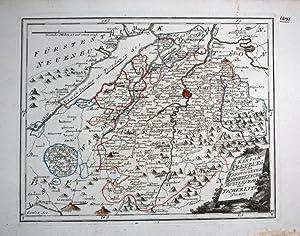 Kanton Freiburg Murten Bern - Reilly Karte map: Reilly, Franz Johann Joseph: