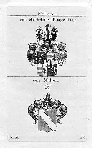 Mairhofen Klingenberg Malsen - Wappen Adel coat
