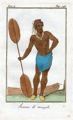 "Homme de Mangela"" - Mangaia Island Cook"