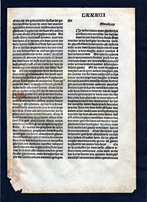 Blatt LXXXVI Inkunabel Vita Christi Zwolle incunable Dutch Holland