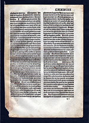 Blatt LXXXVII Inkunabel Vita Christi Zwolle incunable Dutch Holland