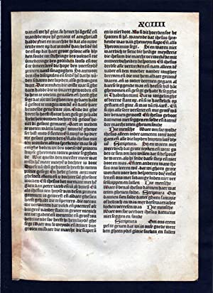 Blatt XCIIII Inkunabel Vita Christi Zwolle incunable Dutch Holland
