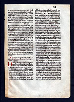 Blatt CI Inkunabel Vita Christi Zwolle incunable Dutch Holland