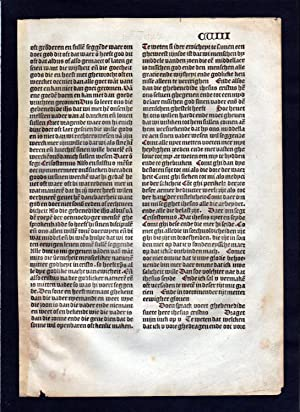 Blatt CVIII Inkunabel Vita Christi Zwolle incunable Dutch Holland