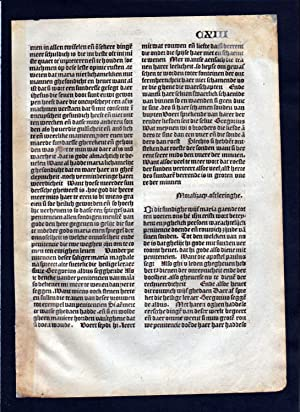 Blatt CXIII Inkunabel Vita Christi Zwolle incunable Dutch Holland