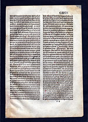Blatt CXVI Inkunabel Vita Christi Zwolle incunable Dutch Holland