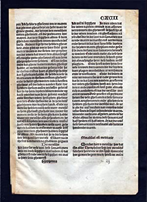 Blatt CXVII Inkunabel Vita Christi Zwolle incunable Dutch Holland