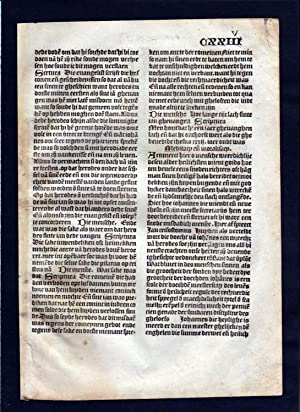 Blatt CXXIV Inkunabel Vita Christi Zwolle incunable Dutch Holland